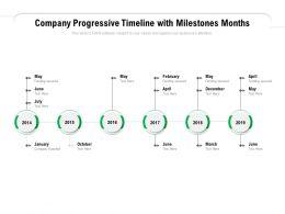 Company Progressive Timeline With Milestones Months