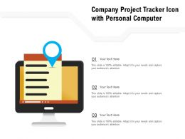 Company Project Tracker Icon With Personal Computer