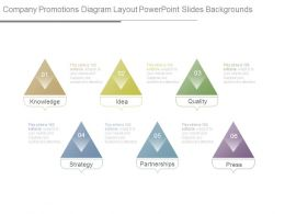 Company Promotions Diagram Layout Powerpoint Slides Backgrounds
