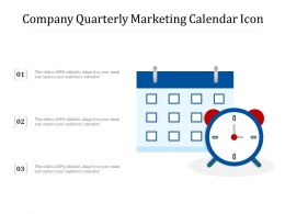 Company Quarterly Marketing Calendar Icon