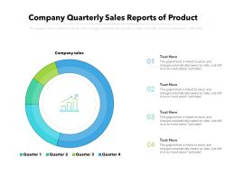 Company Quarterly Sales Reports Of Product