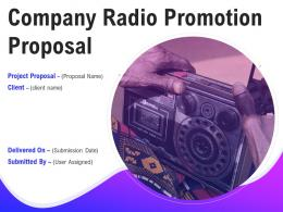 Company Radio Promotion Proposal Powerpoint Presentation Slides