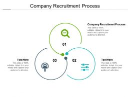 Company Recruitment Process Ppt Powerpoint Presentation Summary Slideshow Cpb