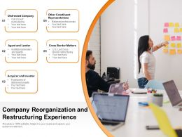 Company Reorganization And Restructuring Experience