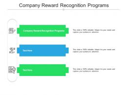 Company Reward Recognition Programs Ppt Powerpoint Presentation Icon Layout Cpb