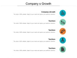 Company S Growth Ppt Powerpoint Presentation Outline Elements Cpb