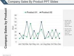 Company Sales By Product Ppt Slide