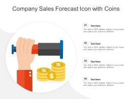 Company Sales Forecast Icon With Coins