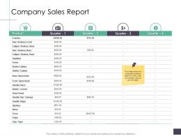 Company Sales Report Business Analysi Overview Ppt Icons