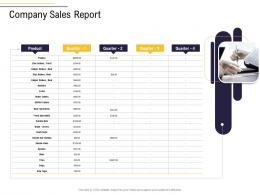 Company Sales Report Business Process Analysis Ppt Themes