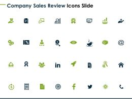 Company Sales Review Icons Slide Success Dollar D93 Ppt Powerpoint Presentation Ideas Deck