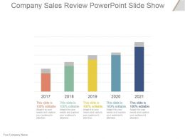 Company Sales Review Powerpoint Slide Show