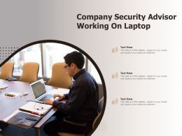 Company Security Advisor Working On Laptop