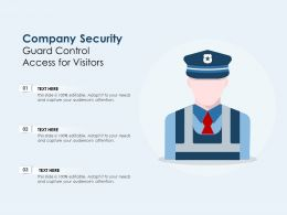 Company Security Guard Control Access For Visitors