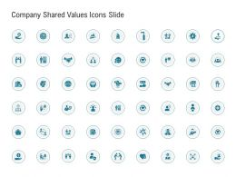 Company Shared Values Icons Slide Ppt Powerpoint Presentation Show Inspiration