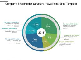 Company Shareholder Structure Powerpoint Slide Template