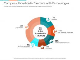 Company Shareholder Structure With Percentages Raise Seed Financing From Angel Investors Ppt Images