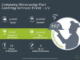 Company Showcasing Past Catering Services Event Guests Ppt Powerpoint Presentation Model Graphics Example