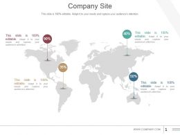 Company Site Powerpoint Shapes
