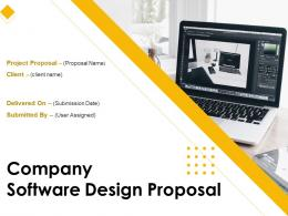 Company Software Design Proposal Powerpoint Presentation