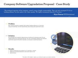 Company Software Upgradation Proposal Case Study Ppt Powerpoint Presentation Icon