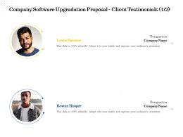 Company Software Upgradation Proposal Client Testimonials L2217 Ppt Powerpoint File