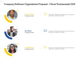 Company Software Upgradation Proposal Client Testimonials L2218 Ppt Powerpoint Ideas