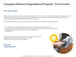 Company Software Upgradation Proposal Cover Letter Ppt Powerpoint Presentation Skills