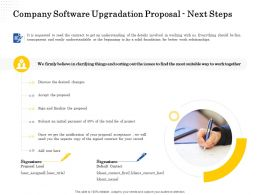 Company Software Upgradation Proposal Next Steps Ppt Powerpoint Presentation Layouts