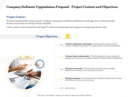 Company Software Upgradation Proposal Project Context And Objectives Ppt Styles Show