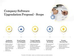 Company Software Upgradation Proposal Scope Ppt Powerpoint Presentation Show