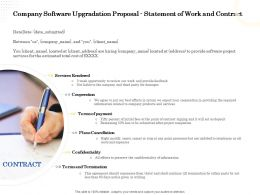 Company Software Upgradation Proposal Statement Of Work And Contract Ppt Maker