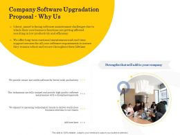 Company Software Upgradation Proposal Why Us Ppt Powerpoint Presentation Layouts