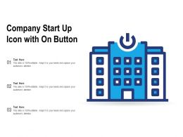 Company Start Up Icon With On Button