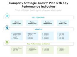 Company Strategic Growth Plan With Key Performance Indicators
