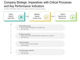Company Strategic Imperatives With Critical Processes And Key Performance Indicators