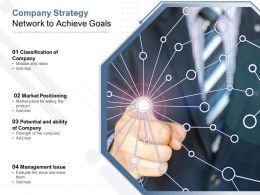 Company Strategy Network To Achieve Goals