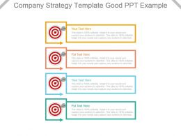 Company Strategy Template Good Ppt Example