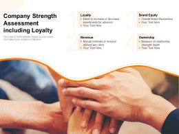 Company Strength Assessment Including Loyalty