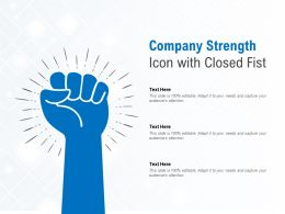 Company Strength Icon With Closed Fist