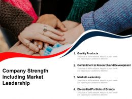 Company Strength Including Market Leadership