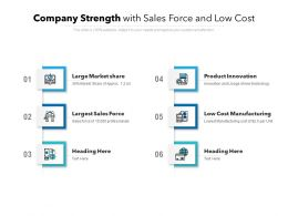 Company Strength With Sales Force And Low Cost