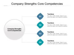 Company Strengths Core Competencies Ppt Powerpoint Presentation Summary Portrait Cpb