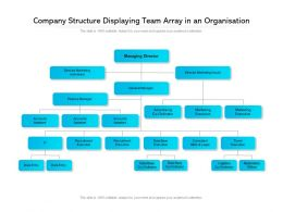 Company Structure Displaying Team Array In An Organisation