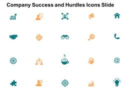 Company Success And Hurdles Icons Slide And Opportunity F19 Powerpoint Presentation Slides