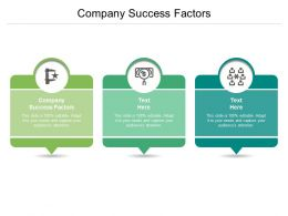 Company Success Factors Ppt Powerpoint Presentation Styles Gallery Cpb