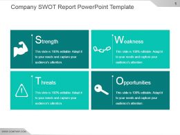 Company Swot Report Powerpoint Template