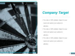 Company Target Powerpoint Slide