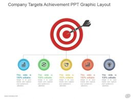 Company Targets Achievement Ppt Graphic Layout