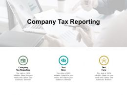 Company Tax Reporting Ppt Powerpoint Presentation File Introduction Cpb